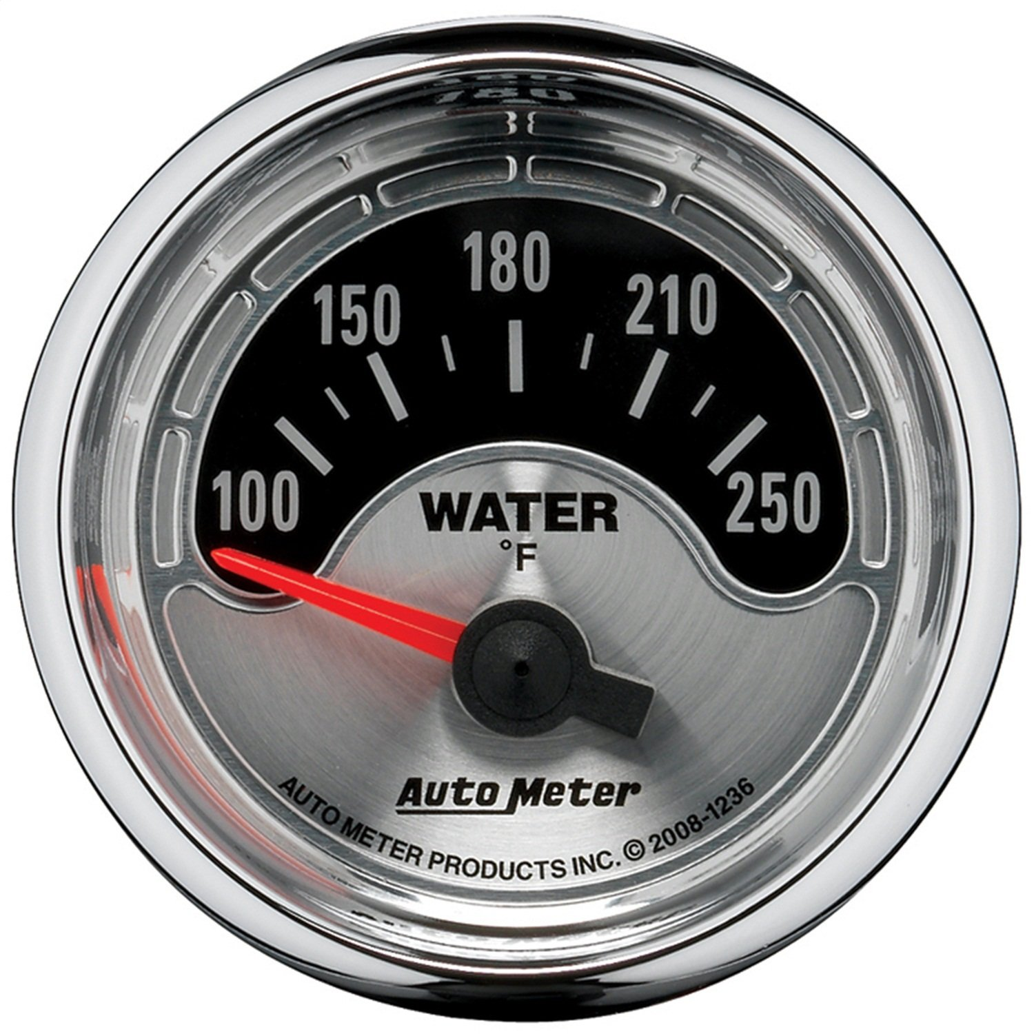 Auto Meter 1236 American Muscle 2-1/16' Short Sweep Electric Water Temperature Gauge