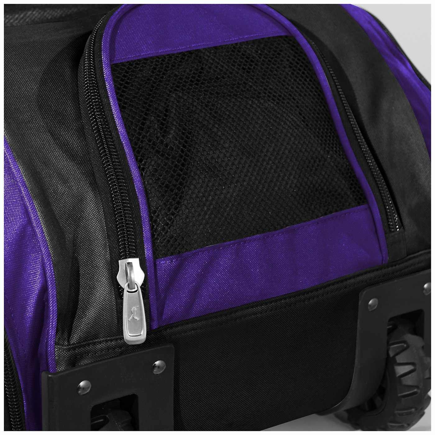 Boombah Beast Baseball/Softball Bat Bag - 40'' x 14'' x 13'' - Black/Purple - Holds 8 Bats, Glove & Shoe Compartments by Boombah (Image #4)