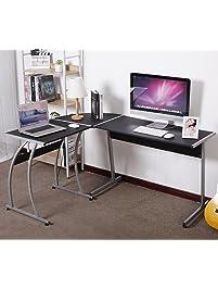 home office desk modern. Unique Home WOLTU LShaped Corner Computer Office Desk Modern PC Laptop Workstation  Table Home To
