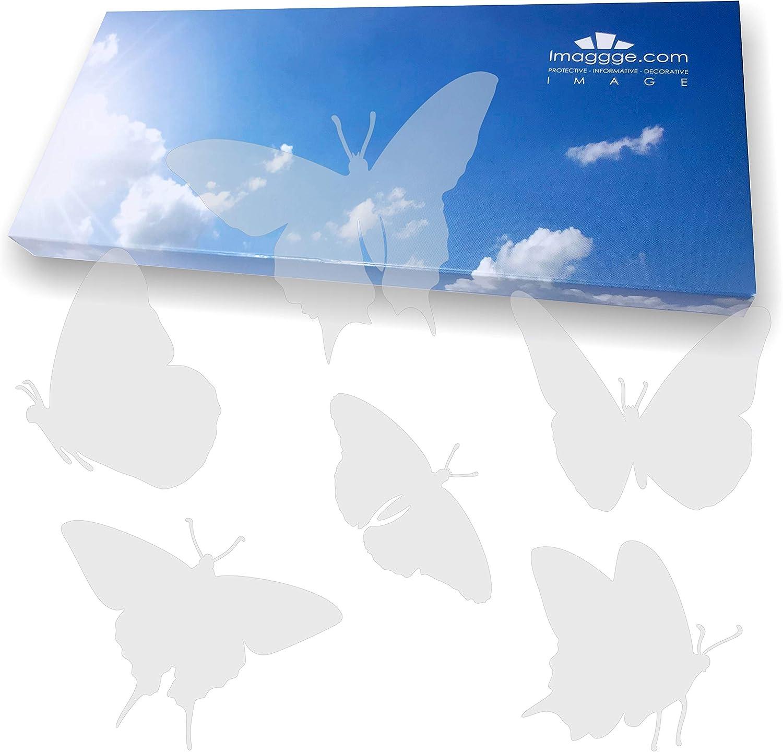 imaggge.com - Pegatinas anticolisión para puertas de cristal (18 mariposas) – Evita los golpes de pájaros o choques de personas en los cristales