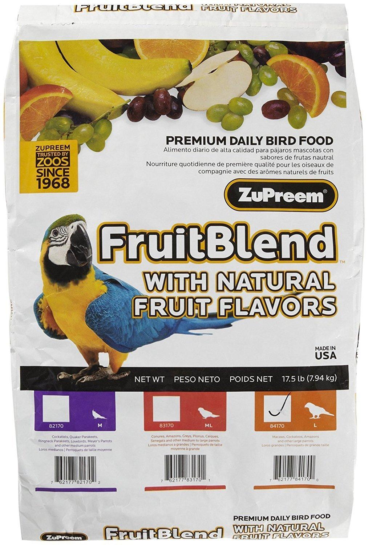 ZUPREEM 230335 Fruitblend Large Parrot Food, 17.5-Pound by ZuPreem