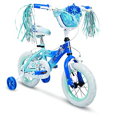 "Huffy 12"" Disney Frozen Elsa Girls Bike, Deep Blue: Sports & Outdoors"
