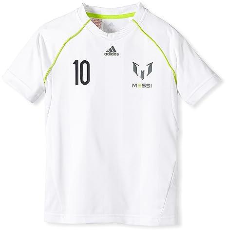 Adidas Messi Youth - Camiseta de manga corta para niño blanco blanco Talla :176