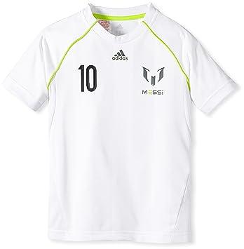 Adidas Messi Youth - Camiseta de manga corta para niño blanco blanco Talla:176: Amazon.es: Deportes y aire libre