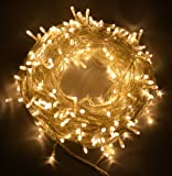 Proxima Direct 100/200/300/400/500 LED String Fairy Lights for Christmas Tree Party Wedding Events Garden (8 Lighting Modes, memory function) (Warm White, 200 LED)