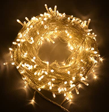 Proxima Direct® 100/200/300/400/500 Le Ds String Fairy Lights For Christmas Tree Party Wedding Events Garden (8 Operation Modes, Memory Function)   Top Quality (Warm White, 300 Le Ds) by Proxima DirectÂ