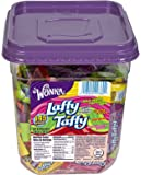 Wonka Laffy-Taffy Assorted Bite-size Candy - Cherry, Strawberry, Sour Apple, Banana - Resealable Jar, Individually Wrapped - 3.08 lb - 145 / Pack