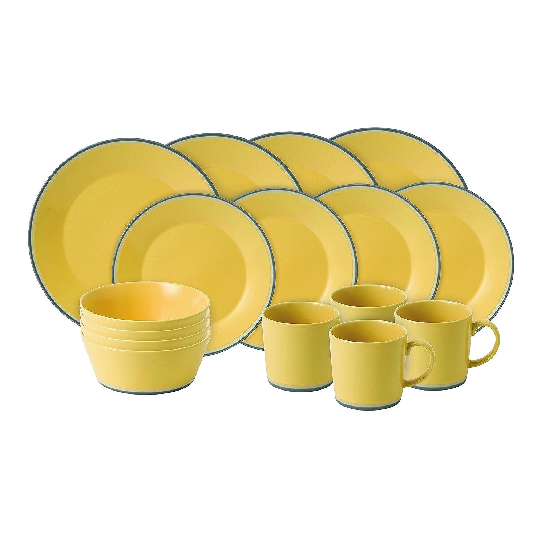 sc 1 st  Amazon.com & Amazon.com   Royal Doulton Colours 16 Piece Set Yellow: Dinnerware Sets