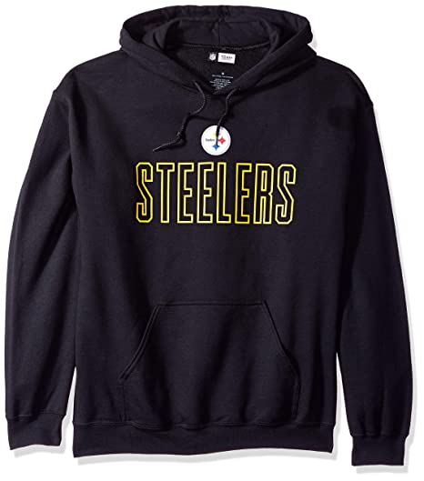 the best attitude a6345 53165 Zubaz NFL Pittsburgh Steelers Men's Open Letter Logo Hoodie, Large, Black