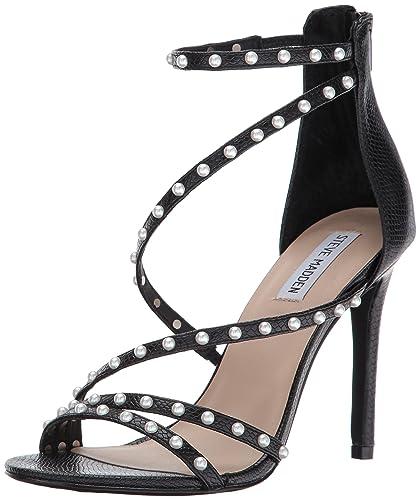 564acda486a Steve Madden Women s Meg Dress Sandal Black Snake 5.5 ...