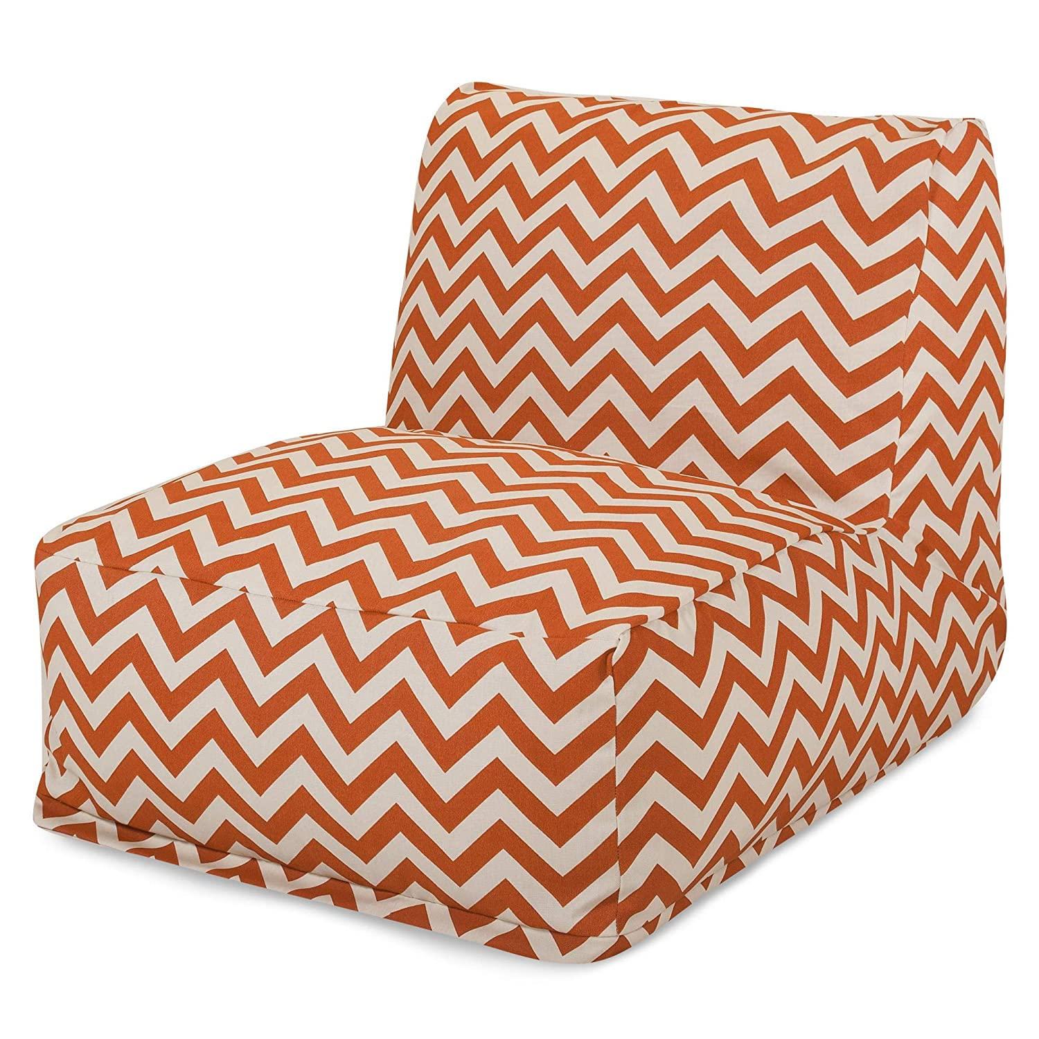 Marvelous Majestic Home Goods Burnt Orange Zig Zag Bean Bag Chair Machost Co Dining Chair Design Ideas Machostcouk