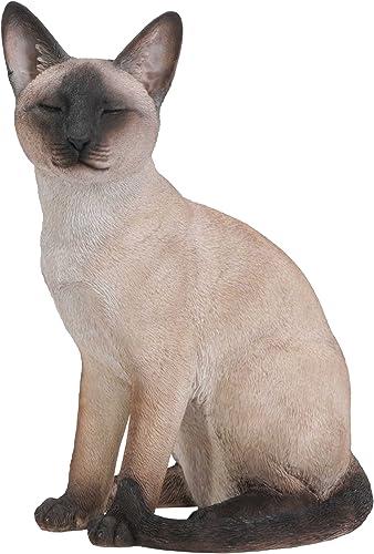 Hi-Line Gift Ltd Sitting Siamese Cat Statue