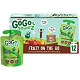 GoGo squeeZ Fruit on the Go, Apple Cinnamon, 3.2 oz. (12 Pouches) - Tasty Kids Applesauce Snacks Made from Apples & Cinnamon