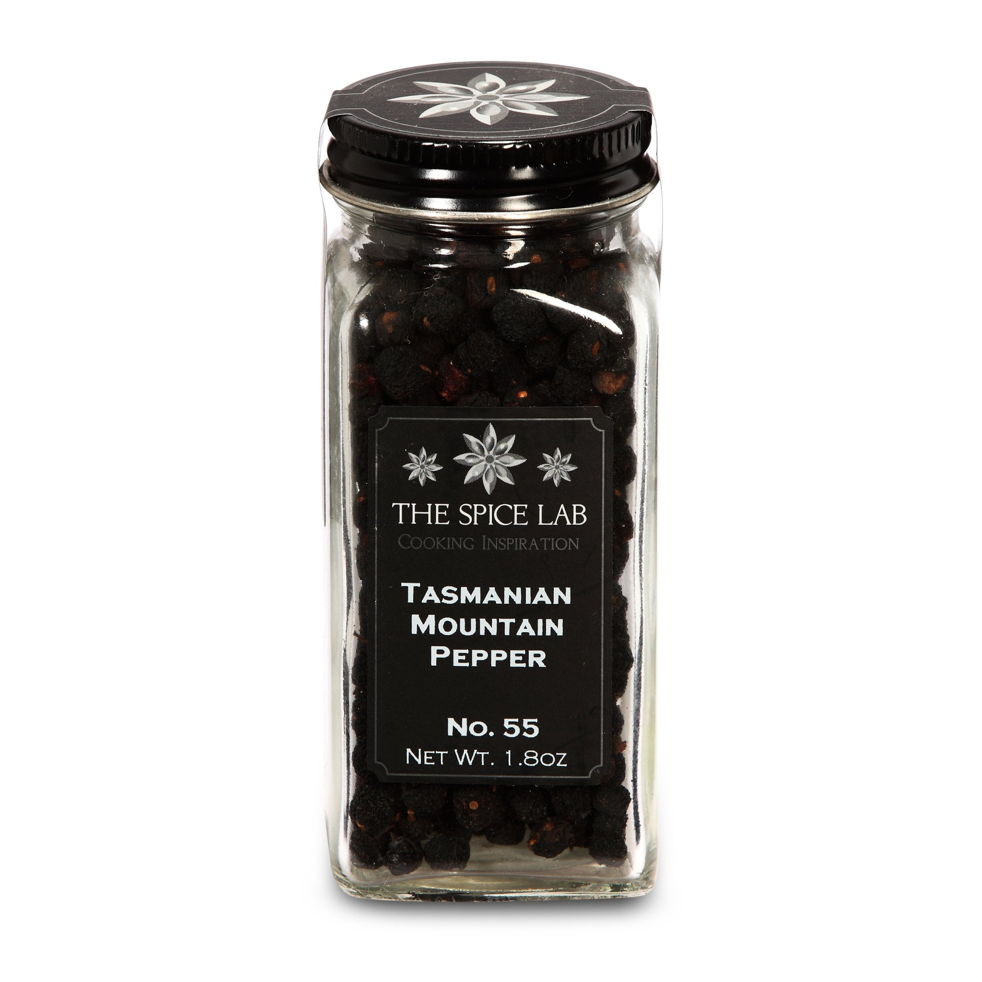 The Spice Lab No. 55 - Tasmanian Mountain Pepper - All Natural Kosher Non GMO Gluten Free Pepper - French Jar