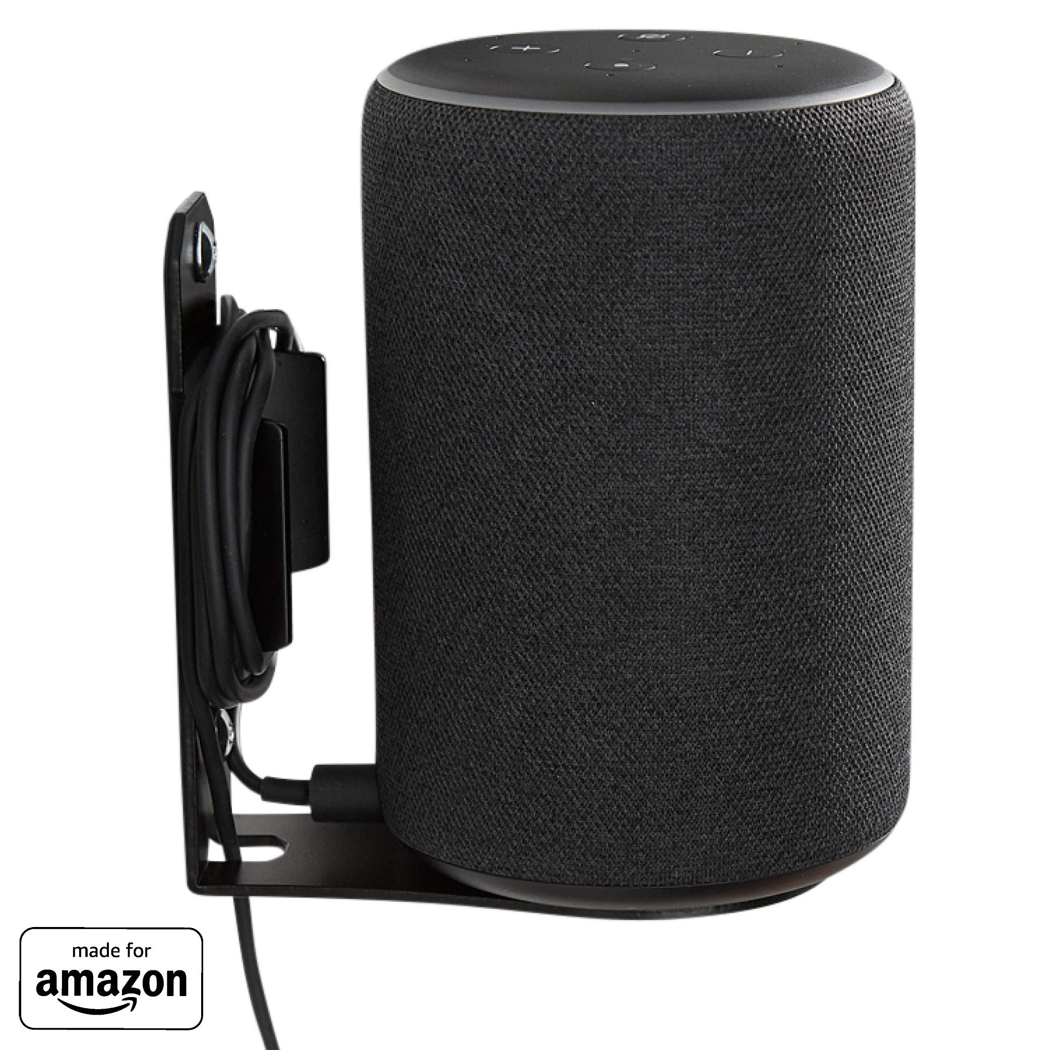 ''Made for Amazon'' Wall Mount for Echo Plus (2nd Gen) and Echo (2nd Gen) - Black