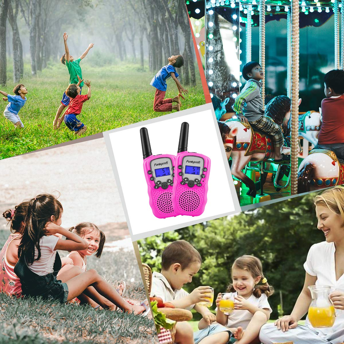 Funkprofi Walkie Talkies for Kids, VOX Hands Free Noise Canceling Kids Walkie Talkies with Belt Clip and LCD Screen, 22 Channels Long Range Two Way Radios for Camping Hiking Family Activities by Funkprofi (Image #7)