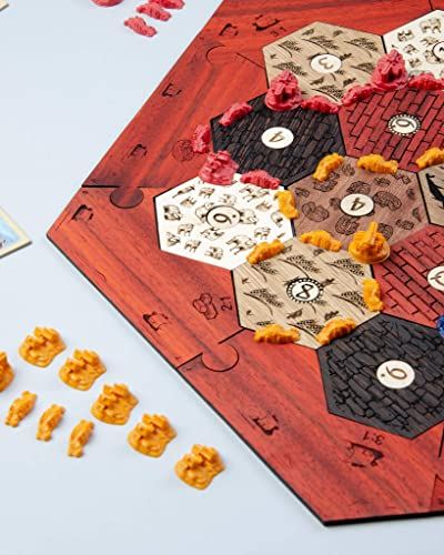Amazoncom Settlers Of Catan Game Of Thrones Board Game Wooden