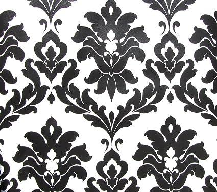 norwall black and white damask wallpaper vg26230p amazon com