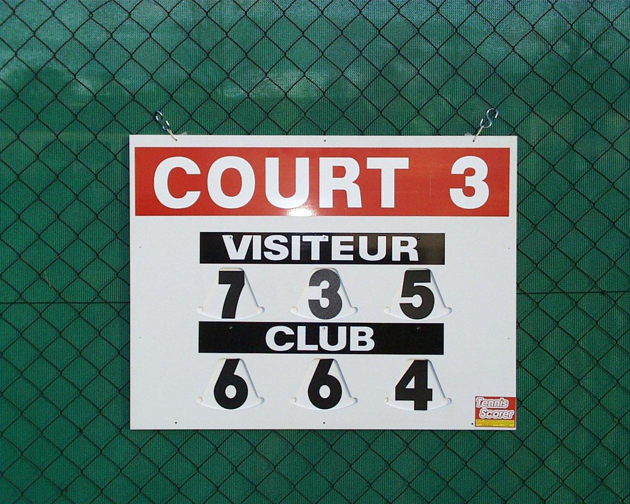 Tableau scores Tennis Modèle Cliptec Recto Tennis scorer