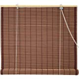 Oriental Furniture Burnt Bamboo Roll Up Blinds - Mahogany - (60 in. x 72 in.)(B)