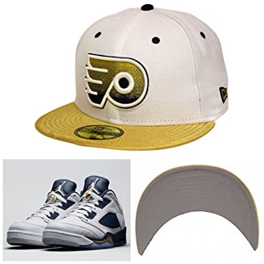 promo code 1138a 876e3 New Era 59Fifty Dunk From Above Philadelphia Flyers White Gold Fitted Cap  (7 3