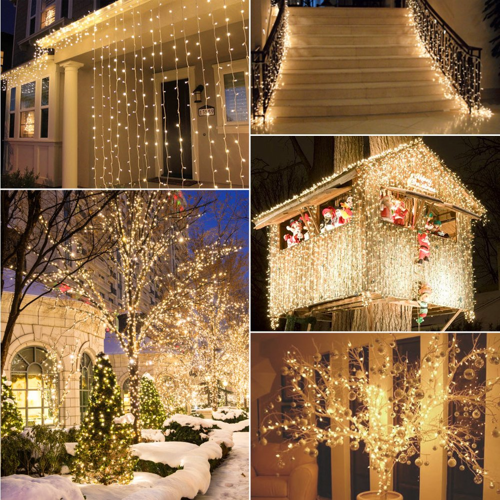 remote and timer 40 led outdoor fairy lights 8 modes battery operated string lights 120 hours of lighting ip65 waterproof warm white amazoncom - Battery Christmas Lights With Timer
