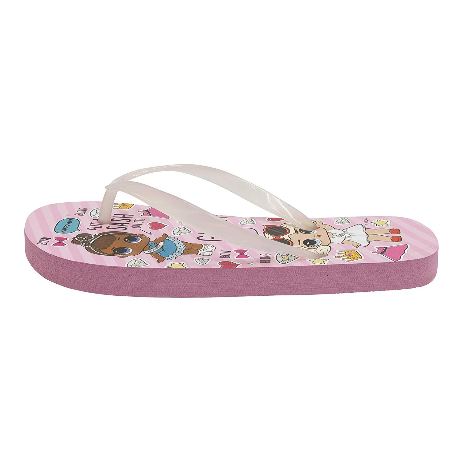 Surprise L.O.L Girls Color Change Upper Flip-Flops