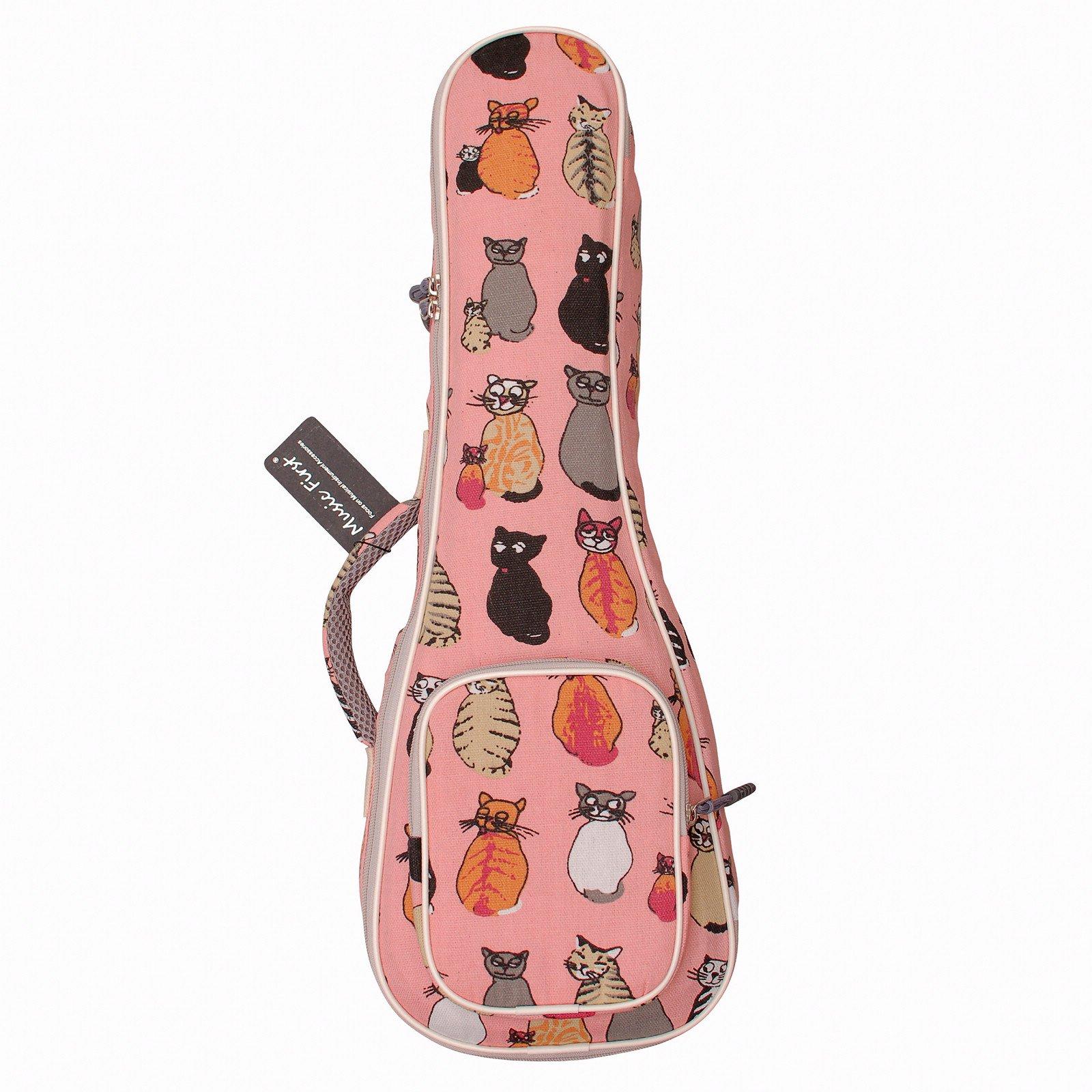 MUSIC FIRST cotton 21'' Soprano''MISS CAT'' ukulele case ukulele bag ukulele cover, New Arrial, Original Design, Best Christmas Gift! by MUSIC FIRST