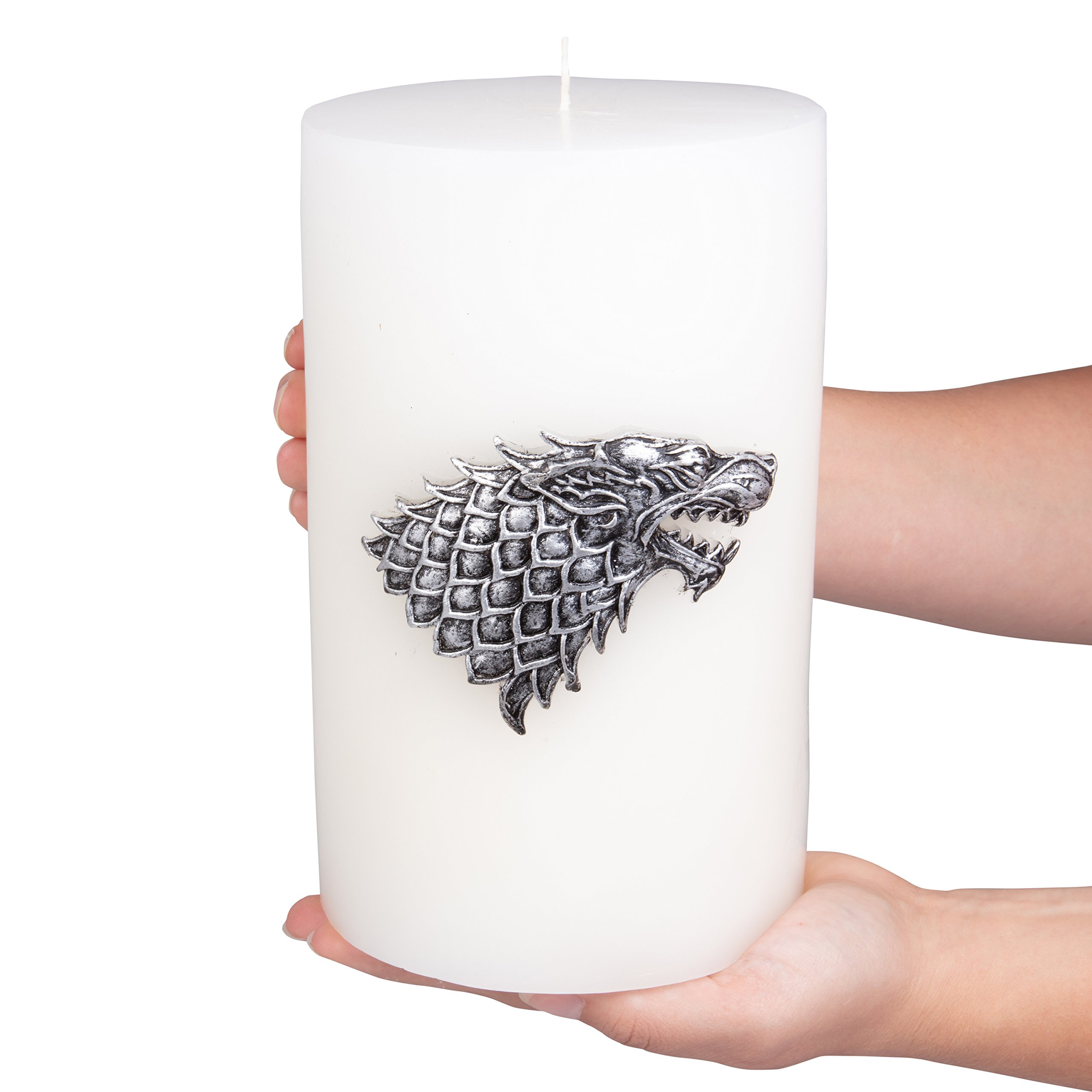 Game of Thrones Candle - Large House Stark Insignia Sculpted Pillar Candle - Perfect for GoT Fans - Unscented - 8''h by Game of Thrones (Image #6)