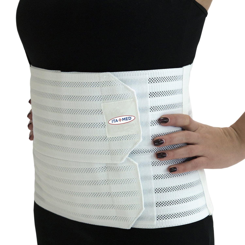 Ita-med Breathable Elastic Abdominal Binder for Women, White, XXL by ITA-MED
