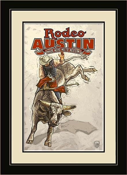 Northwest Art Mall PAL-3106 MFGDM Rodeo Austin Texas Framed Wall Art ...