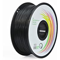 3D BEST-Q PLA 1.75mm Black 3D Printer Filament, Dimensional Accuracy +/- 0.03 mm, 1KG Spool, Black