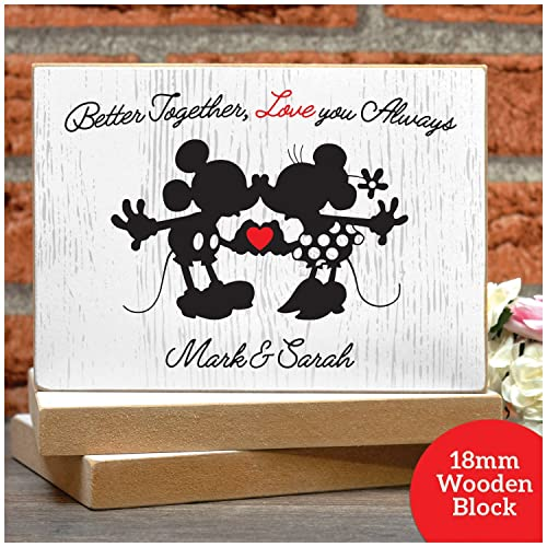disney mickey minnie personalised valentines day gifts couples