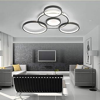 5 Light Floral Flush Mount Moderne LED Plafonnier Luminaire suspendu Lustre Éclairage Lampe suspension contemporaine pour Salon Chambre Salle à manger