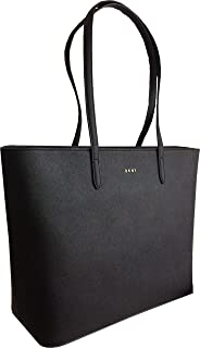 DKNY Large Saffiano Leather Shoulder Tote Bag in Black 2cb8cd85fde