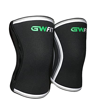 86fbef8873 Image Unavailable. Image not available for. Color: GW Fit Zippered Knee  Sleeves ...