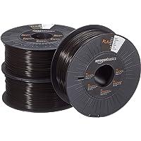 Amazon Basics filament do drukarki 3D z tworzywa sztucznego PLA, 1,75 mm, czarny, 1 kg na szpula, 3 szpule