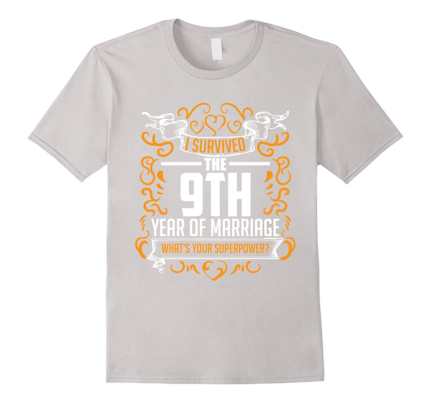 9th Year Wedding Anniversary Gifts: 9th Wedding Anniversary Gifts 9 Year T Shirt For Her Him