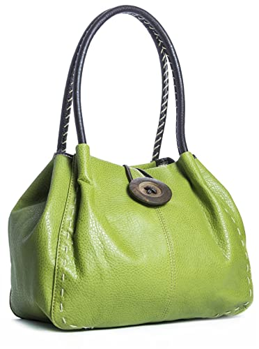 Big Handbag Shop moderne Damen Schultertasche Boutique aus Kunstleder