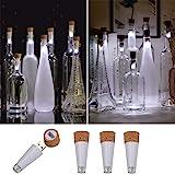 KZOBYD 4 Pack Rechargeable Bottle Lights Mini Cork Shaped Craft Lights USB Powered Fairy Cork Lights for Wine Bottles…