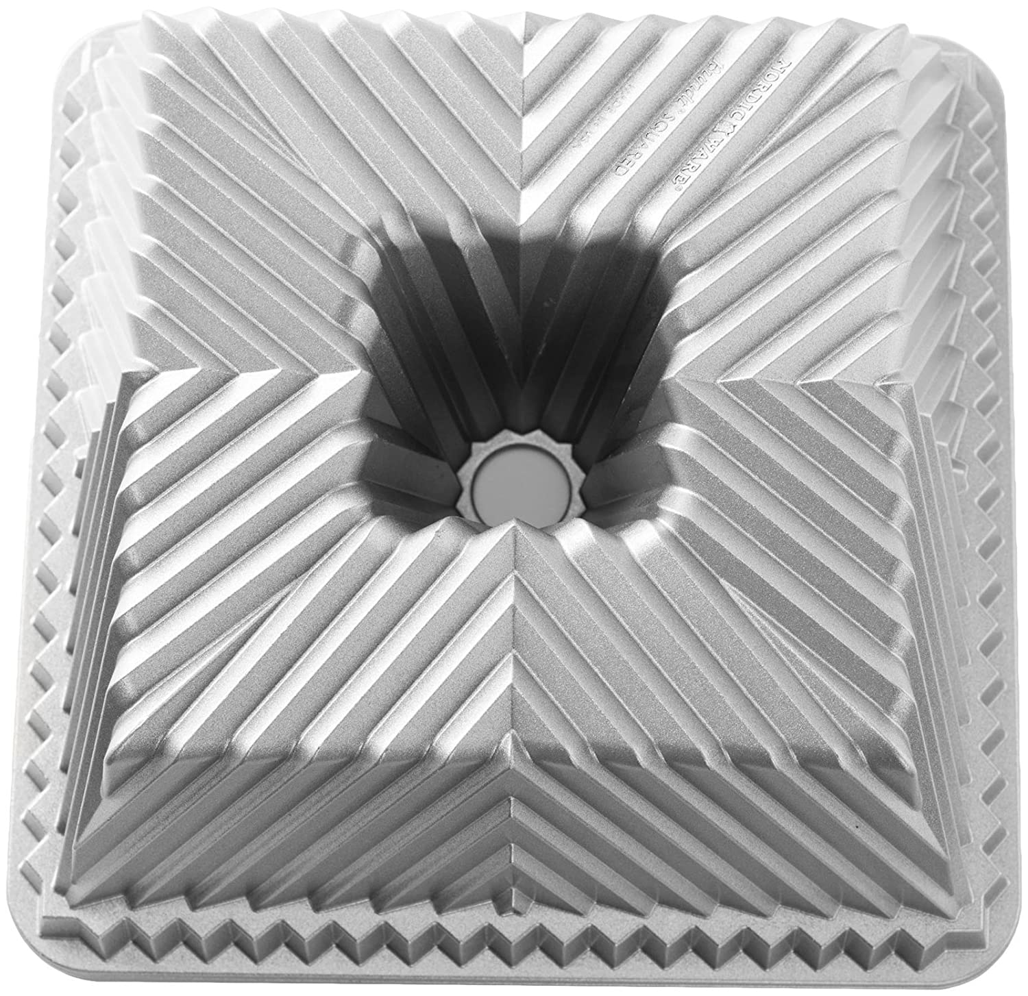 Nordic Ware 80537 Squared Bundt Cake Pan, One Size, Gray