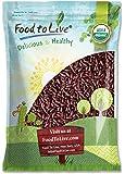 Organic Dark Red Kidney Beans, 10 Pounds - Non-GMO, Kosher, Raw, Sproutable, Vegan