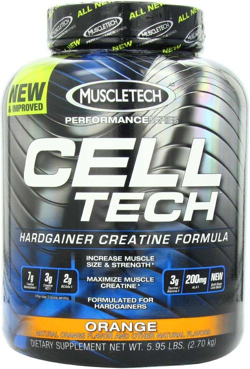 MuscleTech Performance Series Cell-Tech – Orange, 6.0 lbs 2.7 kg