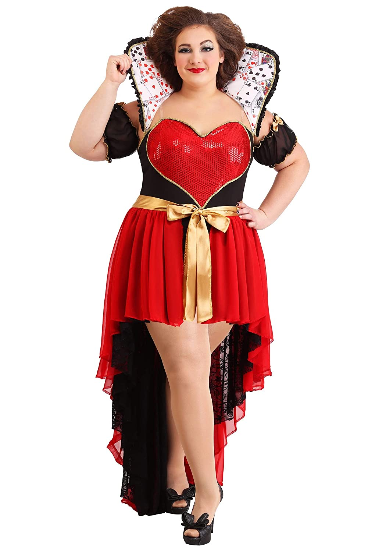 barato en alta calidad 1X Fun Costumes Wohombres Plus Talla Talla Talla Sparkling Queen of Hearts 1X  grandes ofertas
