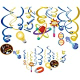 Kristin Paradise 30Ct Science Hanging Swirl Decorations, Mad Scientist Party Supplies, Chemistry Laboratory Birthday…