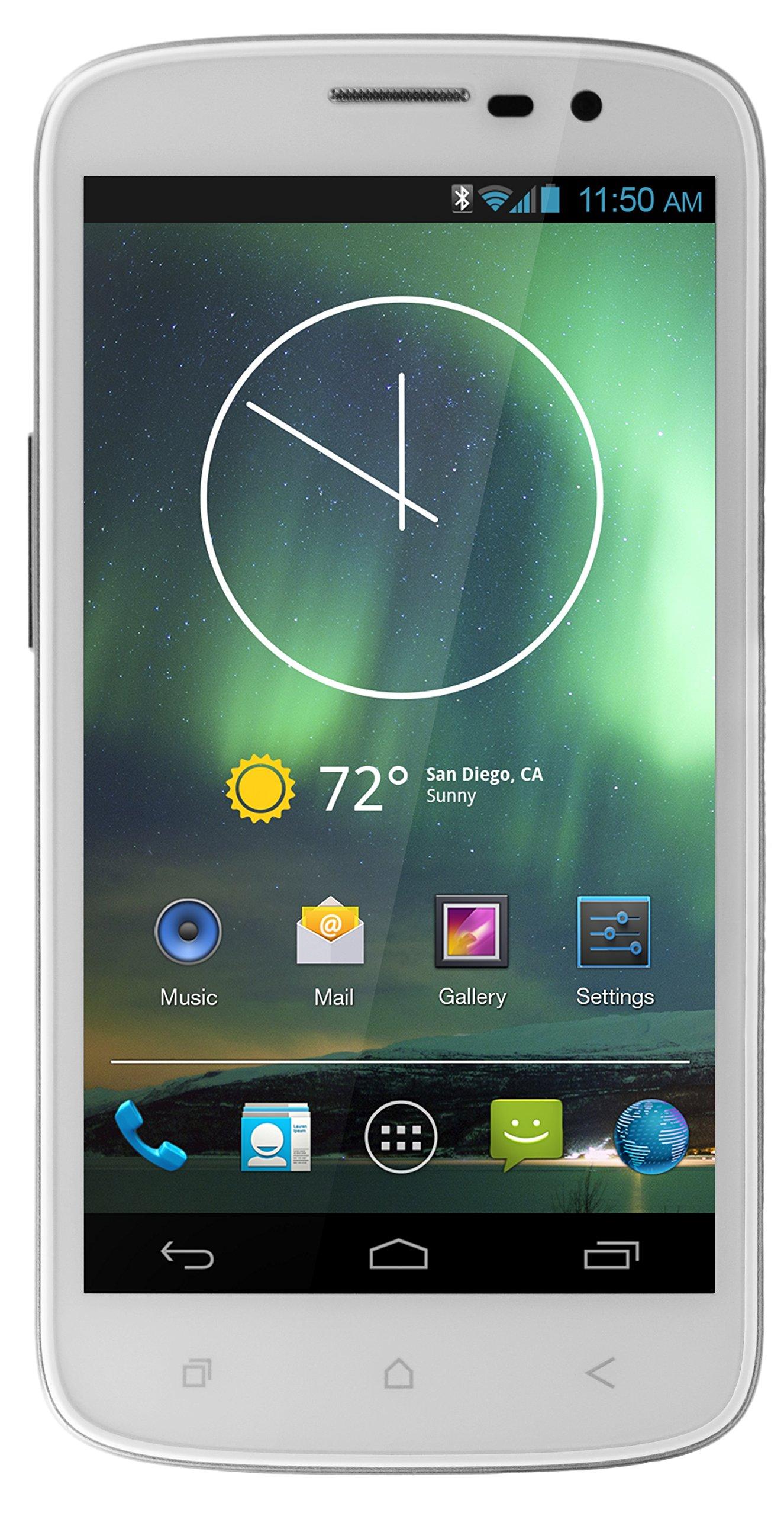 verykool  SL5000 (White) - Unlocked Cell Phones - Retail Packaging - White