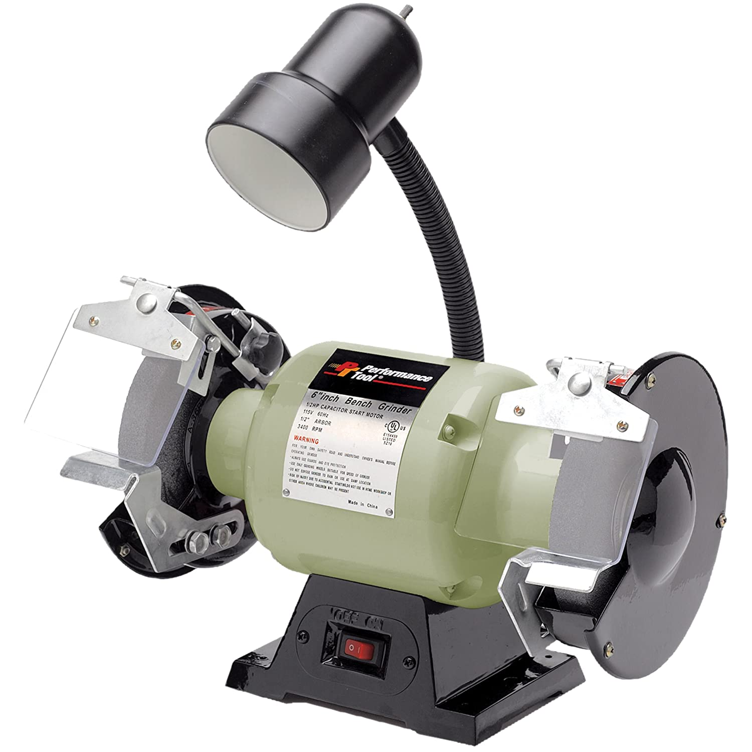 6 Bench Grinder Part - 33: Performance Tool Wilmar W50001 1/2 HP Motor 6-Inch Bench Grinder With Light  - Power Bench Grinders - Amazon.com