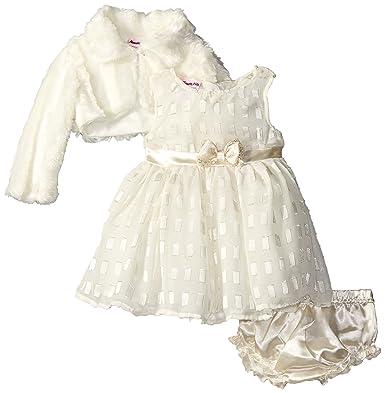 Nannette Baby Kleid Größe beige 3 teilig Kleid + Bolero festlich ...