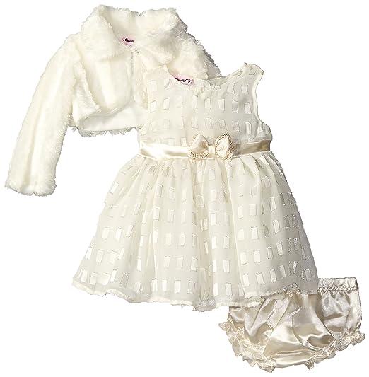 Nannette Baby Kleid Grosse Beige 3 Teilig Kleid Bolero Festlich