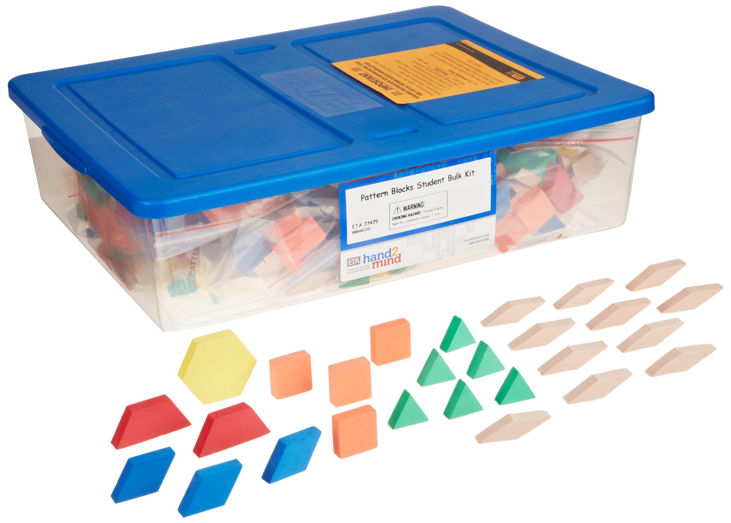 ETA hand2mind Foam Pattern Blocks Student Kit (Pack of 30)